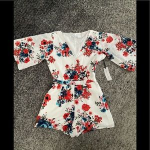 Cupcake and cashmere floral romper